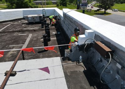 Paint Work on a Commercial Roof Repair