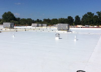 New Commercial Flat Roof with HVAC Installations