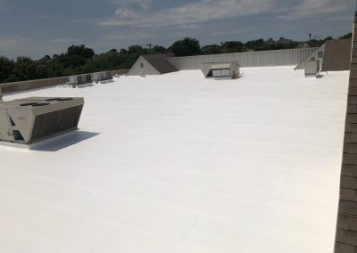 New Coating on Commercial Roof