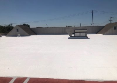 Commercial Roof Having New Coating Applied