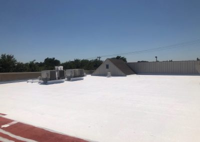 New Coating Being Applied to Commercial Roof