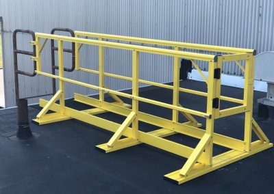 Commercial roof safety system