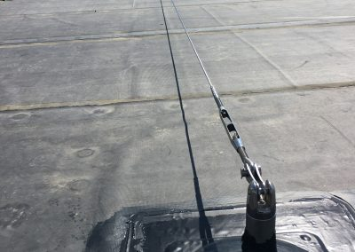 Cable on flat roof